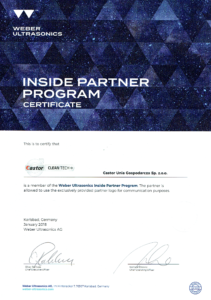 Certyfikat Weber