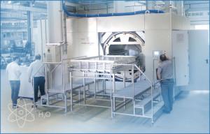 Myjnia próżniowa - wodna pracujaca w układzie zamkniętym z destylarką próżniową