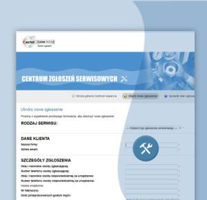 Screenshot centrum zgłoszeń serwisowych