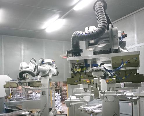 Met-Cast Stanowisko zrobotyzawane do rozcinania odlewów aluminiowych