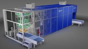 Projekt myjni łączącej technologię mycia w ultradźwiękach i natrysk