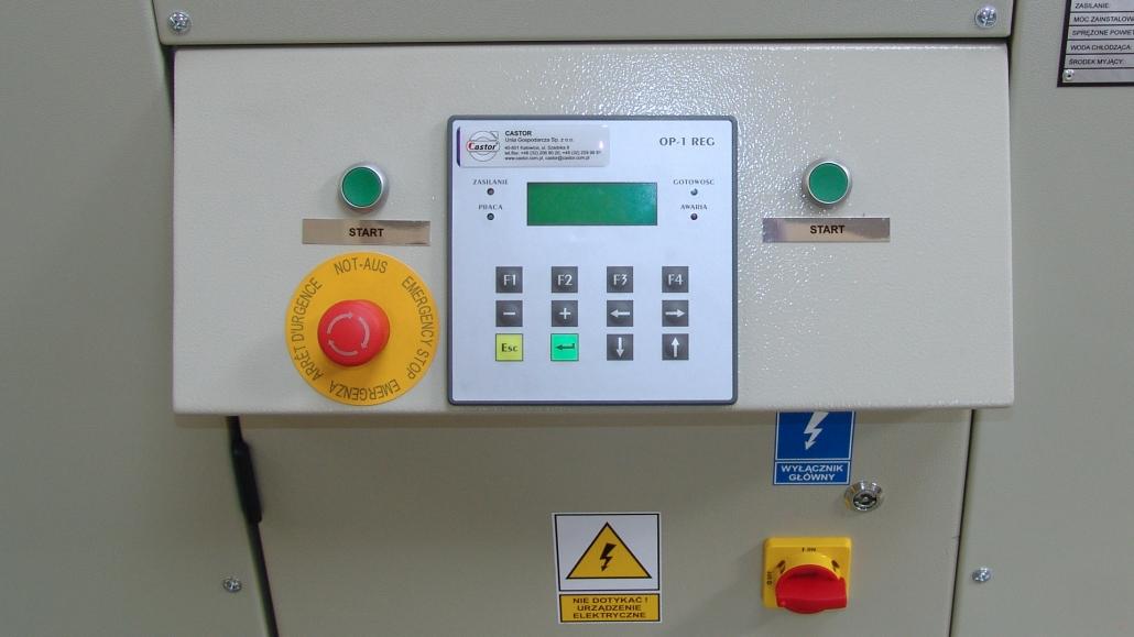 Display panelu sterowania procesem mycia