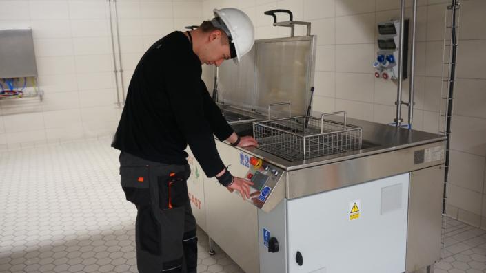 mycie ultradźwiękowe panel sterowania