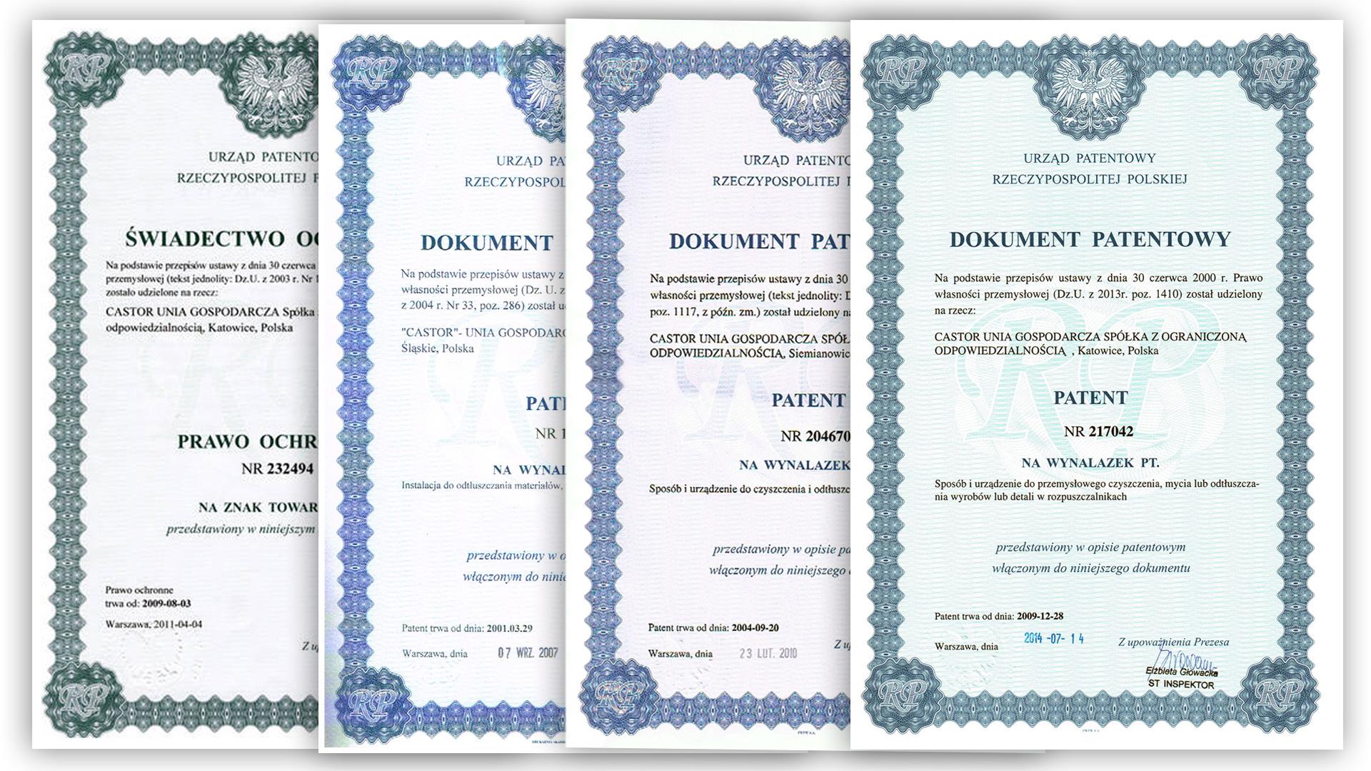 Myjnie przemysłowe - patenty